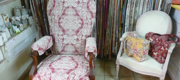 fauteuil toile de jouy