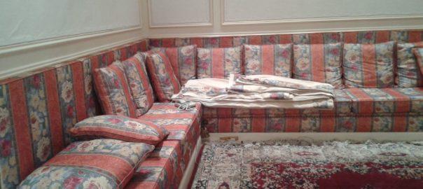 canapé angle avec coussins esprit oriental