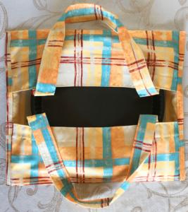 sac à tarte fond uni jaune