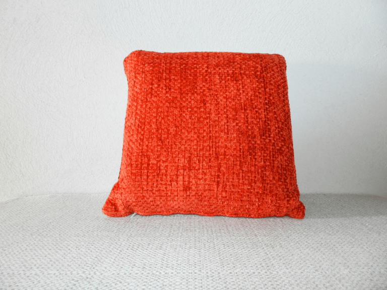 coussin rouge velours