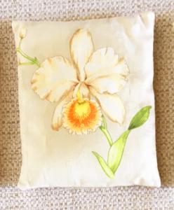 cale-porte motif orchidée blanche