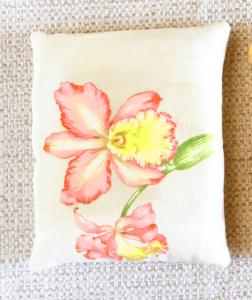 cale-porte motif orchidée rose