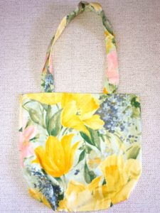 sac shopping motifs tulipes jaunes