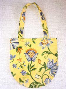 sac shopping motifs fleurs chardons