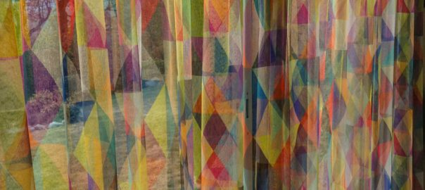 voilage multicolore