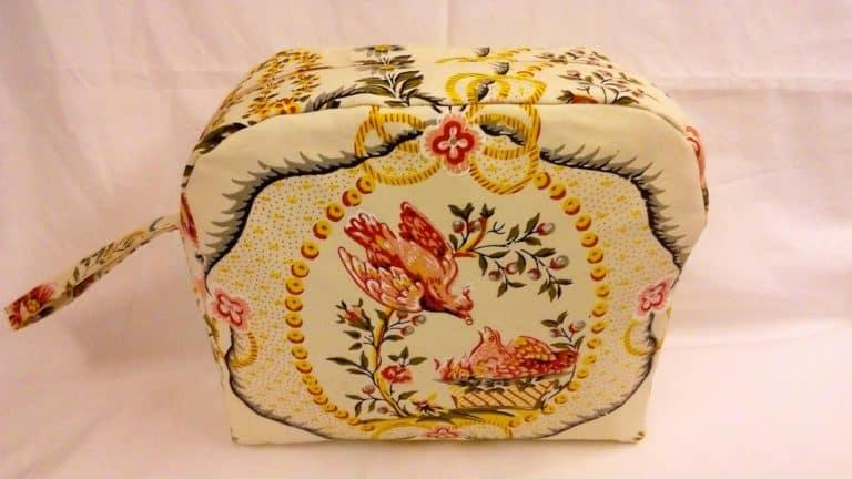 pochette blanche avec motif couple d'oiseaux