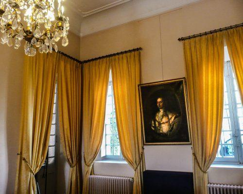 rideaux jaunes villa fragonard